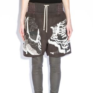 Rick Owens SS14 Moody embroidered shorts 6 BNWT